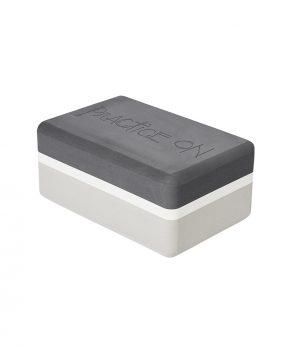 Manduka UpHold Yoga Block EVA-Schaum Sand - Grau/Weiss - Rechteckig – 23 x 15 x 10 cm