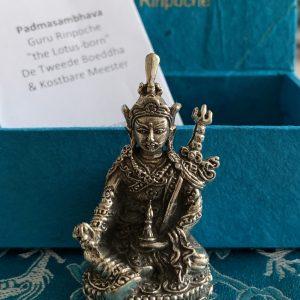 "Metall-Statuette Mini Guru Rinpoche ""Der zweite Buddha"""