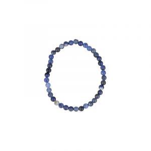 Sodalith-Perlen Kinderarmband (4 mm)