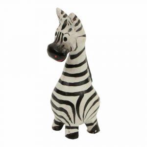 Statue aus Holz Zebra langer Hals (8 x 4 x 3 cm)