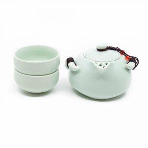 Traditionelles chinesisches Teeservice Minzgrün