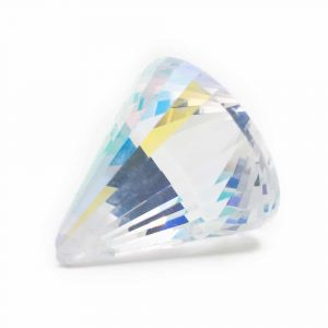 Regenbogenkristall Kegel Perlmutt (40 mm)