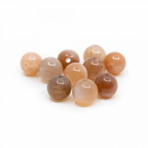 Edelstein Lose Perlen Sonnenstein - 10 Stück (6 mm)