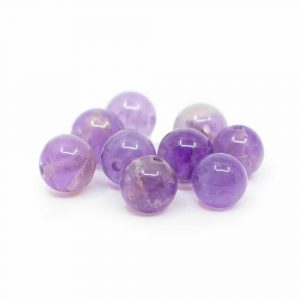 Edelstein Lose Perlen Amethyst - 10 Stück (6 mm)
