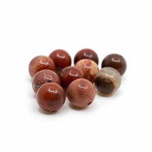 Edelstein Lose Perlen Roter Jaspis - 10 Stück (8 mm)