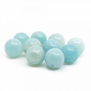 Edelstein Lose Perlen Amazonit - 10 Stück (8 mm)