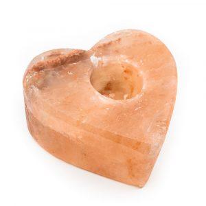 Salzstein Teelichthalter Orange Herz (1,3 kg) 12 x 12 cm