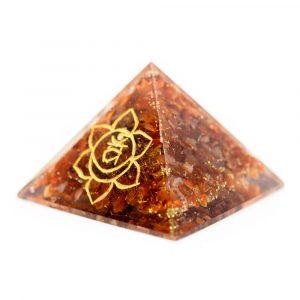 Orgonit-Pyramide - Sakral-Chakra - Karneol (70 mm)