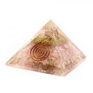 Orgon Pyramide Rosenquarz Kupferspirale (40 mm)
