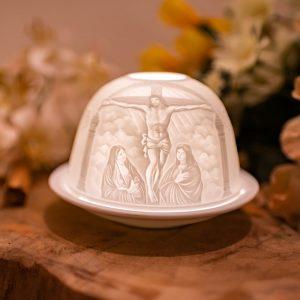 Stimmungslicht Porzellan Jesus am Kreuz
