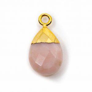 Edelstein-Anhänger Rosa Opal-Birne (10 mm)