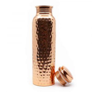 Spiru Kupfer-Wasserflasche gehämmert - 900 ml