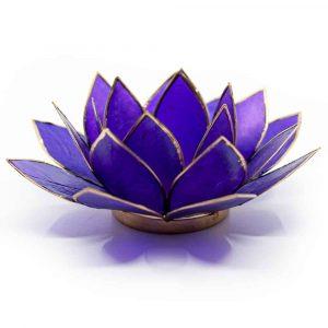 Lotus Atmosphärisches Licht Violett 7. Chakra Goldrand