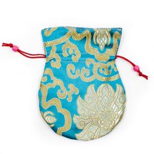 Brokat-Tasche Handgemacht - Blau
