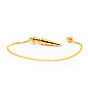 Pendel Metall Schwert Goldfarben