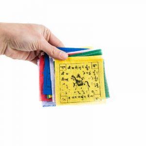 Gebetsfahnen Tibetische Schnur mit 10 Fahnen - 130 cm lang