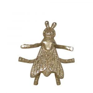 Dekorative Aluminium Motte Gold (10 cm)