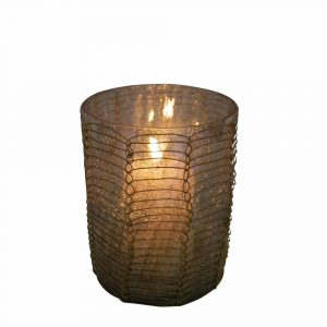 Teelichthalter Filigran recht Braun (10 cm)
