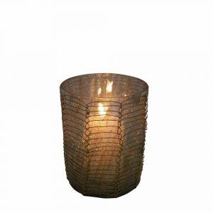Teelichthalter Filigran recht Braun (8 cm)