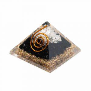 Orgonit-Pyramide Mini Schwarzer Turmalin & Bergkristall (25 mm)