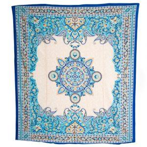 Authentisches Wandtuch Baumwolle Blüten-Mandala (240 x 210 cm)