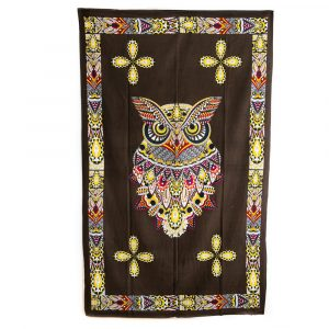 Authentisches Wandtuch Baumwolle Eule (215 x 135 cm)