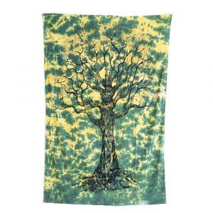 Authentisches Wandtuch Baumwolle mit Lebensbaum (215x135cm)