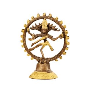 Shiva Nataraj Messing zweifarbig - 13 cm