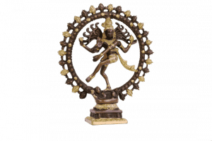 Shiva Nataraj Messing zweifarbig - 27 cm