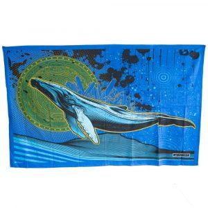 Authentisches Wandtuch Baumwolle Fliegender Wal (215 x 135 cm)