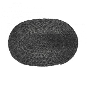 Jute Tischset Herz Oval Schwarz (50 x 35 cm)
