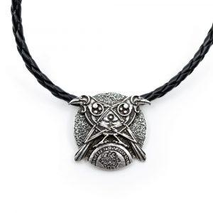 Amulett Wikinger Krähen und Allsehende Auge