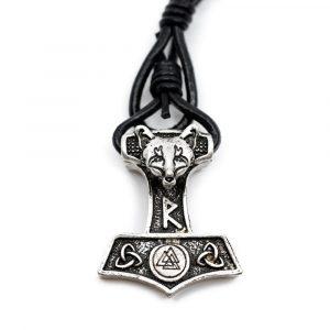 Wikinger Armband Thor's Hammer mit Runen und Fuchs