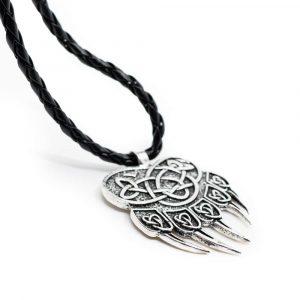 Amulett Bärenklaue mit endlosem Knoten