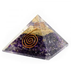 Orgonit-Pyramide - Amethyst mit Kristall (40 mm)