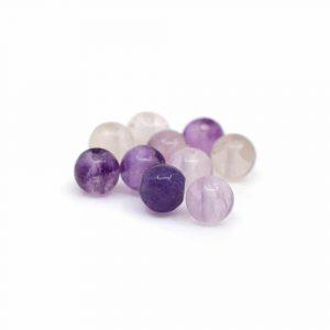 Edelstein Lose Perlen Fluorit - 10 Stück (4 mm)