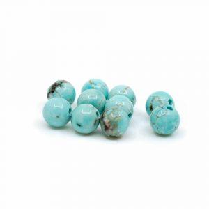 Edelstein Lose Perlen Türkis - 10 Stück (4 mm)