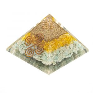 Orgonit-Pyramide Citrin/Amazonit - Vastu - (75 mm)