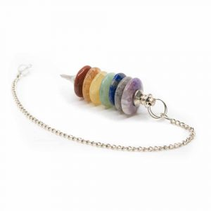 Pendel mit Ringen Chakra-Farben (55 mm)