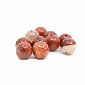 Edelstein Lose Perlen Roter Jaspis - 10 Stück (10 mm)