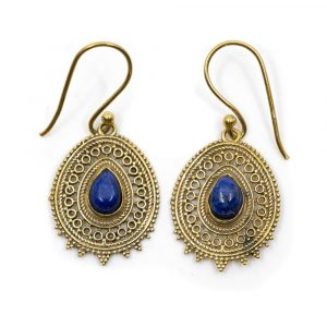 Edelstein Boho Ohrringe Lapis Lazuli (25 mm)