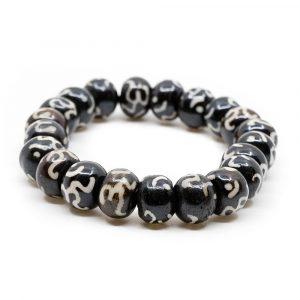 Holzarmband mit bemalten Perlen OM