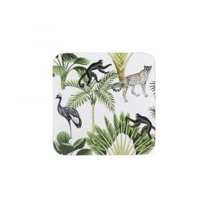 Untersetzer Dschungel Weiß (Satz mit 6 Stück)