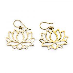 Ohrringe Lotus Messing goldfarben (25 mm)