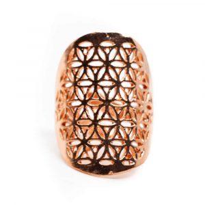 Verstellbarer Ring Blume des Lebens Kupfer (30 mm)