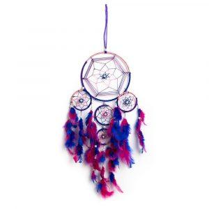 Traumfänger mit violetten Tönen (55 cm)