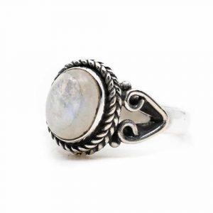 """Edelstein-Ring Mondstein 925 Silber """"Vesora"""" (Größe 17)"""