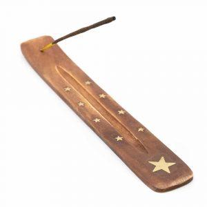 Räucherstäbchen-Halter Holzstern (25 cm)