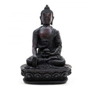 Sitzender Buddha - Schwarz (18 cm)