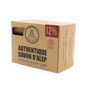 Aleppo-Seife Authentic Ecocert - 12% Lorbeeröl - 200 Gramm